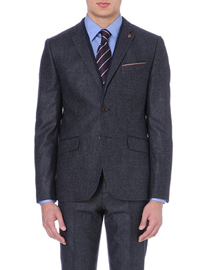 TED BAKER Jonso pocket square wool-blend blazer