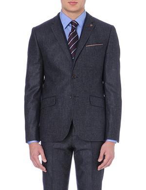 TED BAKER Jonso pocket square wool-blend blazer