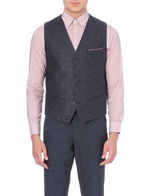 TED BAKER Jonwai wool-blend waistcoat