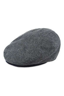 TED BAKER Oxford weave flat cap