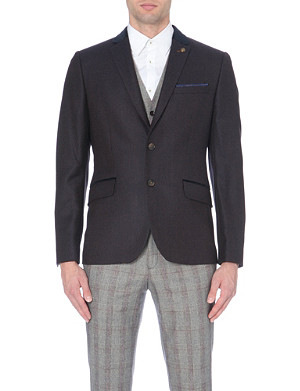 TED BAKER Wool mix pin-dot blazer