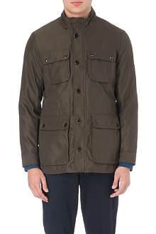 TED BAKER Four pocket bonded fabric coat