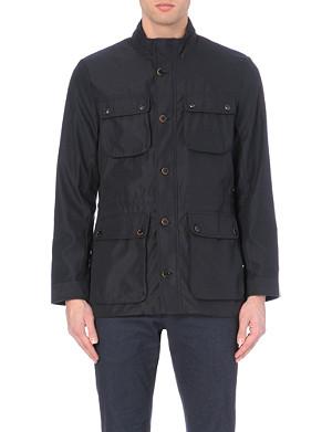 TED BAKER Four pocket bonded fabric coat