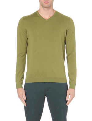 TED BAKER Babel merino wool v-neck jumper