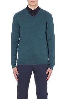 TED BAKER Babel merino wool v-neck jumper