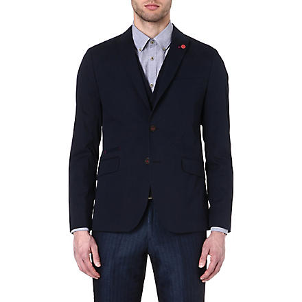 TED BAKER Faramir cotton blazer (Navy