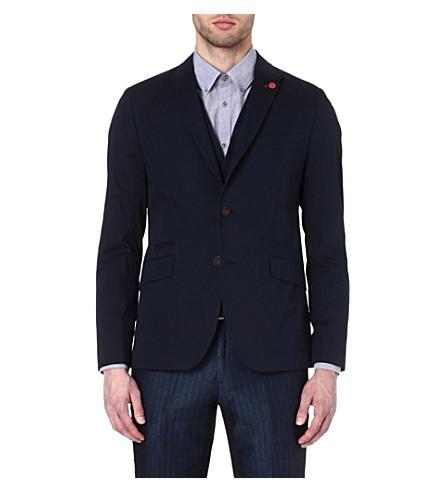 TED BAKER Faramir cotton blazer (Navy