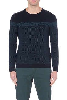TED BAKER Cowden jacquard pattern jumper