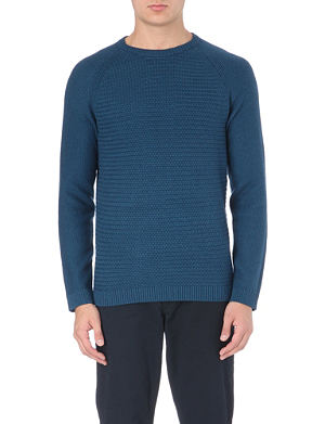 TED BAKER Crewe basket stitch jumper