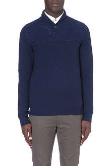 TED BAKER Lodere shawl-neck jumper
