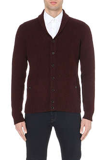 TED BAKER Zigtop shawl-collar knitted cardigan