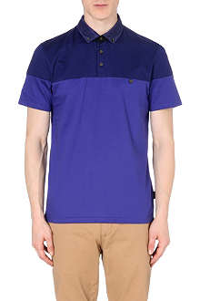 TED BAKER Wookpol printed-panel polo shirt