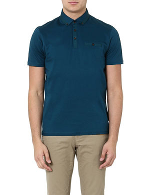 TED BAKER Grainyo grosgrain polo shirt