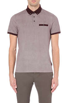 TED BAKER Wooksee printed cotton polo shirt