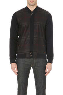 TED BAKER Azbak checked jersey bomber jacket