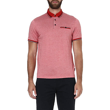 TED BAKER Kyroe Oxford cotton polo shirt (Red
