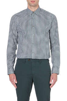 TED BAKER Danoo twill check shirt