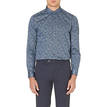 TED BAKER Leojak floral-print shirt (Blue