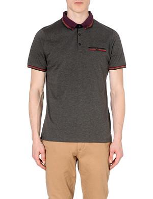 TED BAKER Tirah striped-trim polo shirt