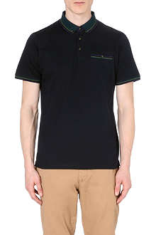 TED BAKER Tirah striped-trim polo shirt