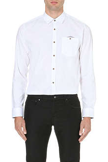 TED BAKER Wellfly cotton pocket-detail shirt