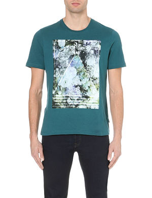 TED BAKER Alford cotton-jersey t-shirt