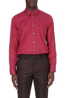 TED BAKER Dobby regular-fit spot shirt