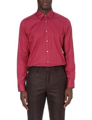 TED BAKER Dobby regular-fit spot shirt