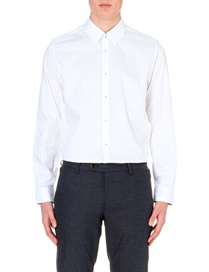 TED BAKER Geometric-print regular-fit cotton shirt