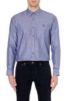 TED BAKER Ruleoff Dobby jacquard shirt