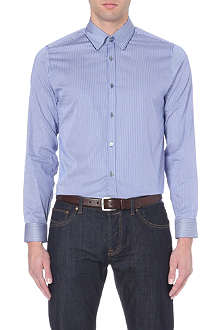 TED BAKER Satoon satin-striped shirt
