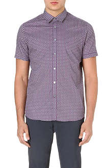 TED BAKER Breath circle-print cotton shirt