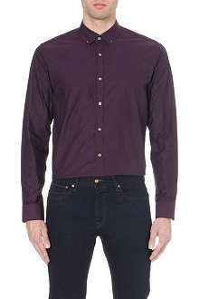 TED BAKER Whosays Dobby jacquard shirt