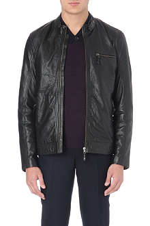 TED BAKER Visery biker leather jacket
