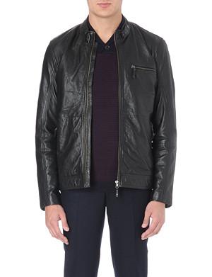 TED BAKER Visery biker leather jacket
