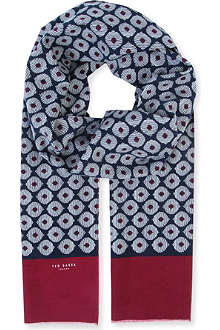 TED BAKER Bebar printed cord scarf