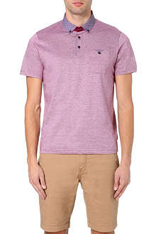 TED BAKER Benekey patterned collar polo shirt