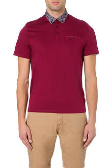 TED BAKER Jessey leopard-collar polo shirt