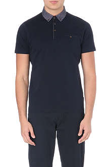 TED BAKER Soobad contrast-collar polo shirt