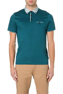 TED BAKER Felina spot-collar polo shirt