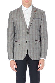 TED BAKER Pypar plaid check wool blazer