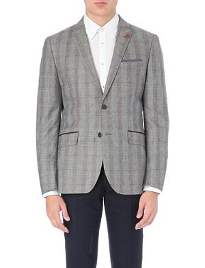 TED BAKER Pypar plaid check wool blazer