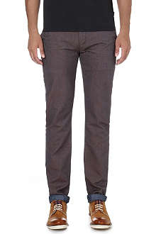 TED BAKER Hollard tapered mid-rise cotton trousers