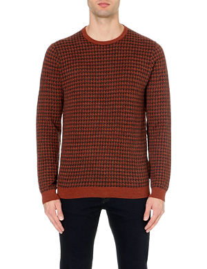 TED BAKER Humbie dogtooth knit jumper