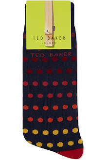 TED BAKER Spotted organic cotton socks