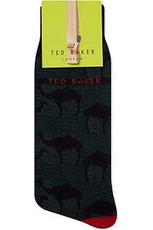 TED BAKER Camel pattern organic socks