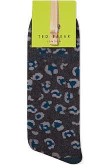 TED BAKER Leopard print organic socks