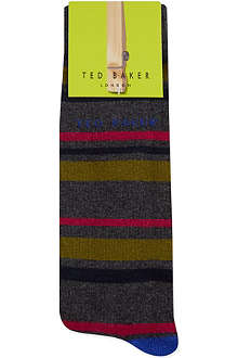 TED BAKER Multi striped organic socks