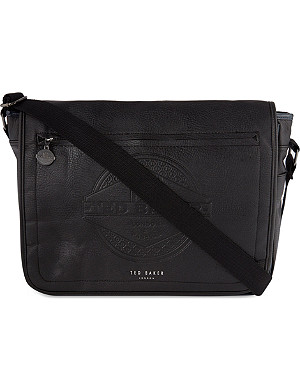 TED BAKER Embossed messenger bag