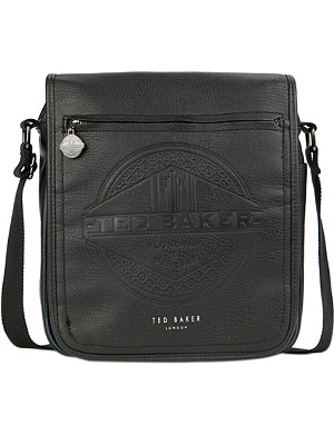 TED BAKER Jays embossed faux-leather flight bag